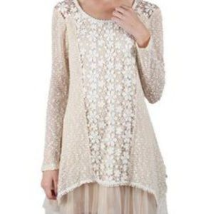 Ryu Lace & Tulle Sweater Dress // Small